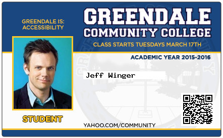 Jeff Winger school ID