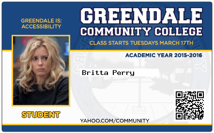 Britta Perry school ID